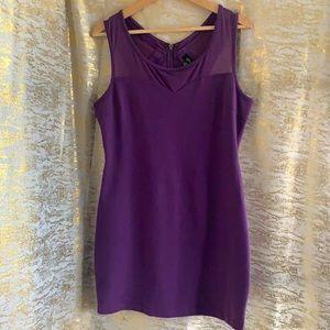 Guess purple short sleeves mini dress size large